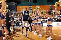 21 January 2012:  FIU center Brandon Moore (22) is introduced prior to the game.  The Florida Atlantic University Owls defeated the FIU Golden Panthers, 66-64, at the U.S. Century Bank Arena in Miami, Florida.
