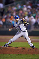 South Bend Cubs relief pitcher Craig Brooks (3) during a game against the Dayton Dragons on May 11, 2016 at Fifth Third Field in Dayton, Ohio.  South Bend defeated Dayton 2-0.  (Mike Janes/Four Seam Images)