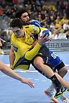 Rhein Neckar Loewe Filip Taleski (Nr.28) gegen Gummersbach beim Spiel in der Handball Bundesliga, Rhein Neckar Loewen - VfL Gummersbach.<br /> <br /> Foto &copy; PIX-Sportfotos *** Foto ist honorarpflichtig! *** Auf Anfrage in hoeherer Qualitaet/Aufloesung. Belegexemplar erbeten. Veroeffentlichung ausschliesslich fuer journalistisch-publizistische Zwecke. For editorial use only.