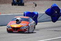 Mar. 31, 2012; Las Vegas, NV, USA: NHRA pro stock driver Jason Line during qualifying for the Summitracing.com Nationals at The Strip in Las Vegas. Mandatory Credit: Mark J. Rebilas-US PRESSWIRE