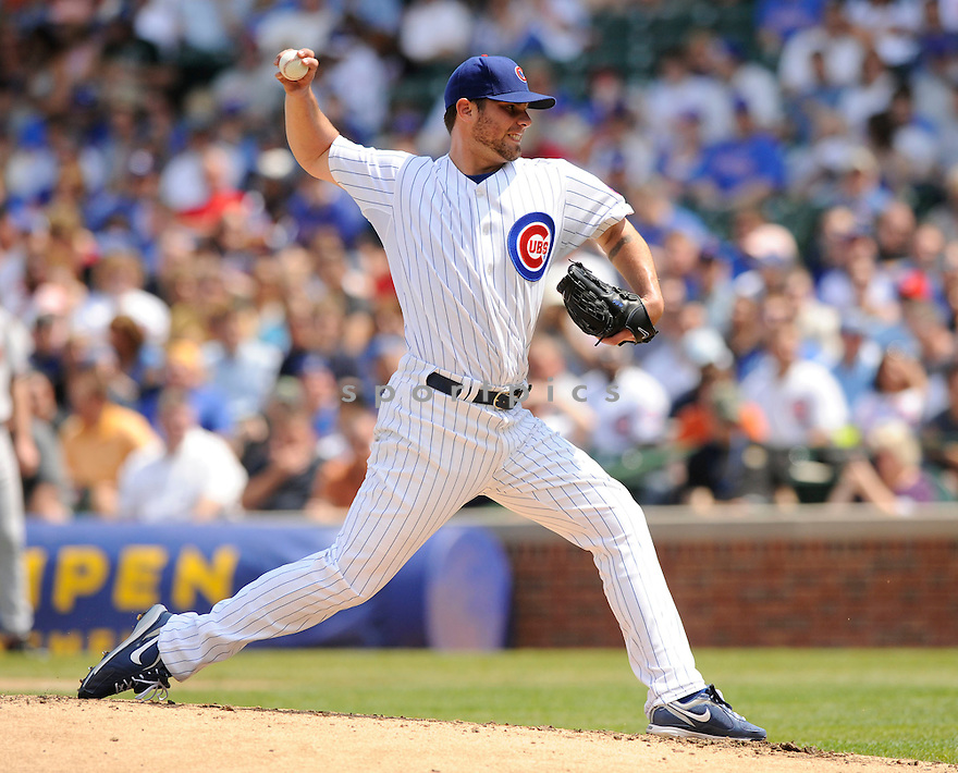 RANDY WELLS, of the Chicago Cubs, in action during the Cubs game against the Arizona Diamondbacks at  Wrigley Field in Chicago, IL  on April 29, 2010...The Arizona Diamondbacks  win 13-5.