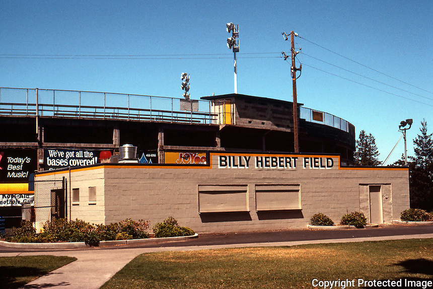 Ballparks: Stockton, CA. Billy Hebert Field, home of Stockton Ports. Franchise established in CA League in 1941.