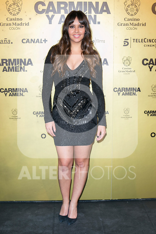"Cristina Pedroche attend the Premiere of the movie ""Carmina y Amen"" at the Callao Cinema in Madrid, Spain. April 28, 2014. (ALTERPHOTOS/Carlos Dafonte)"