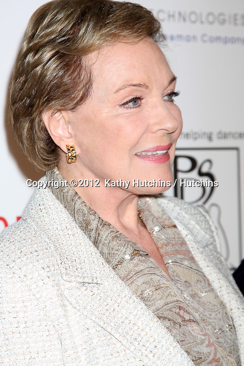 LOS ANGELES - MAR 18:  Julie Andrews arrives at the Professional Dancer's Society Gypsy Awards at the Beverly Hilton Hotel on March 18, 2012 in Los Angeles, CA