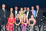 ..COOL: Relaxing after the Rose of Tralee ball in the Topaz Dome on Friday night. Front l-r: Donna Roche, Elizabeth Shanahan O'Sullivan, Margo Rogers and Teresa Foley. Back were: Ray Foley, David Rogers, Colin Rogers, Sheila Wall, Sean Murphy, Seamus O'Sullivan, Graham Higgions and Eddie Wall.. ....