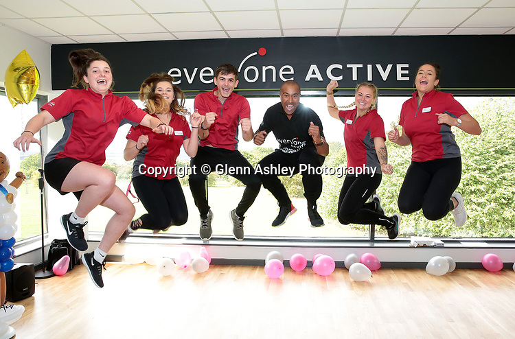 Olympic Hurdler Colin Jackson at the open day at West Lindsey Leisure Crentre, Gainsborough, United Kingdom, 15th September 2018. Photo by Glenn Ashley.