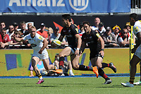 Sean Maitland of Saracens breaks for the tryline during the Aviva Premiership Rugby semi final match between Saracens and Wasps at Allianz Park on Saturday 19th May 2018 (Photo by Rob Munro/Stewart Communications)