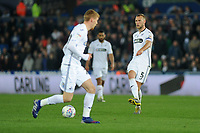 Mike van der Hoorn of Swansea City in action during the Sky Bet Championship match between Swansea City and Stoke City at the Liberty Stadium in Swansea, Wales, UK. Wednesday 09 April 2019