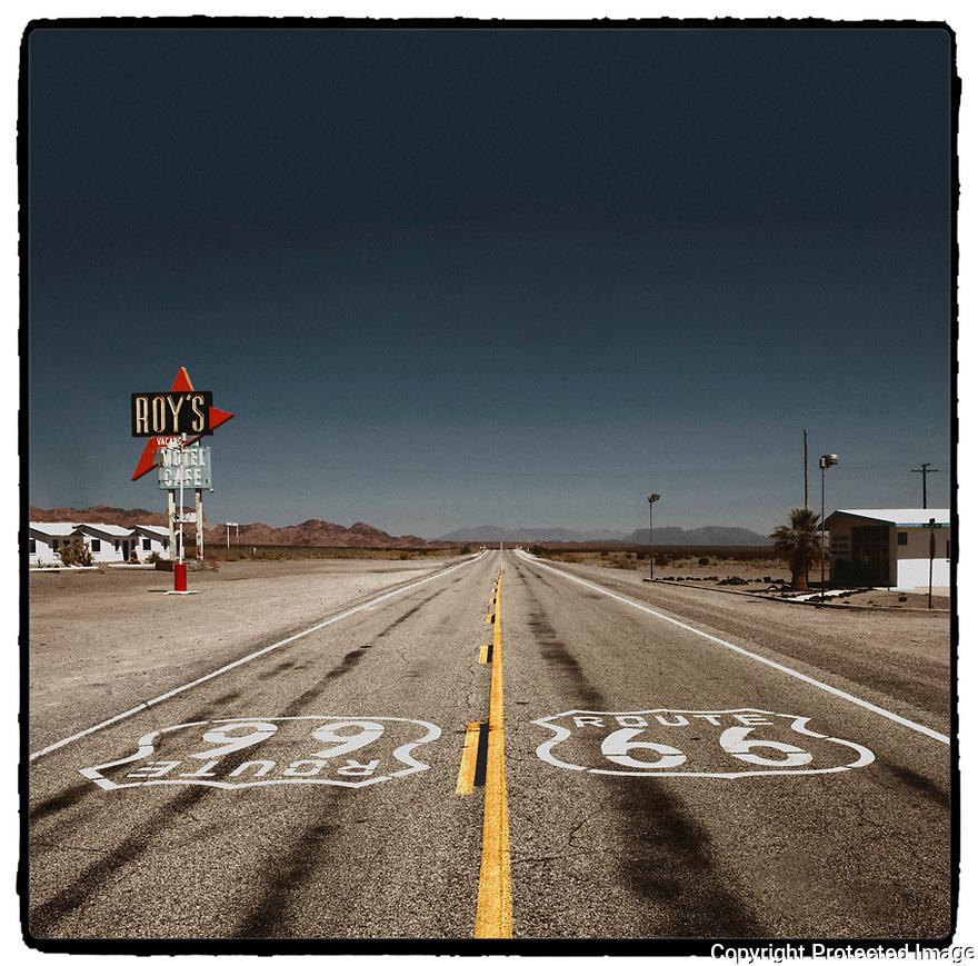 Californie-Route 66<br /> D&eacute;sert de Mojave<br /> Amboy