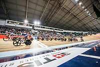Picture by Allan McKenzie/SWpix.com - 06/01/2018 - Track Cycling - Revolution Champion Series 2017 - Round 3 - National Cycling Centre, Manchester, England - Riders race at Revolution round 3 in Manchester.