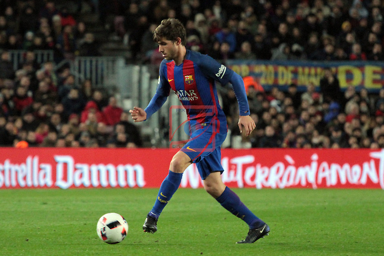 Copa del Rey 2016/2017 - 1/8 final vuelta.<br /> FC Barcelona vs Athletic Club: 3-1.<br /> Sergi Roberto.