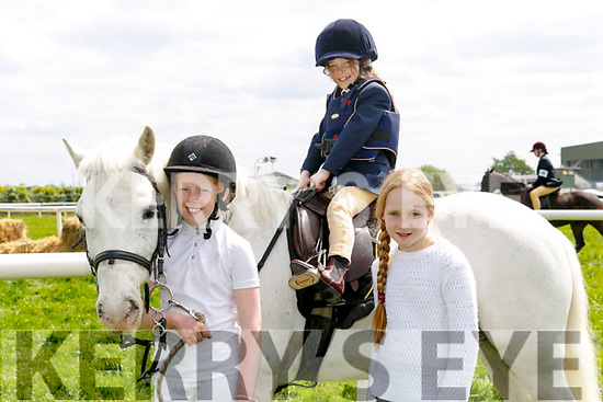 At the Kingdom County Fair in Ballybeggan on Sunday were Jessica O Sullivan, Kristen O'sullivan and Isabel Stack with Atomic Spot