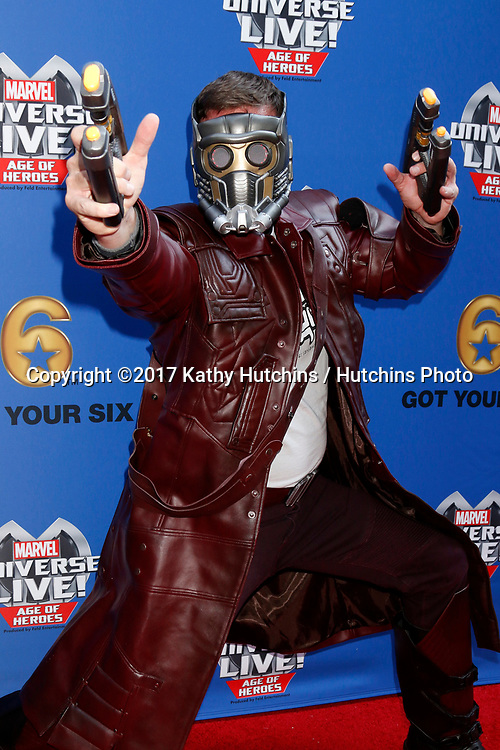 LOS ANGELES - JUL 8:  Star-Lord at the Marvel Universe Live Red Carpet at the Staples Center on July 8, 2017 in Los Angeles, CA