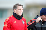Bastian Schweinsteiger of Manchester United during the UEFA Europa League training at the AON Carrington training complex. Photo credit should read: Philip Oldham/Sportimage