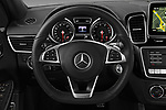 Car pictures of steering wheel view of a 2017 Mercedes Benz GLE-Class-Coupe GLE43-AMG 5 Door SUV Steering Wheel