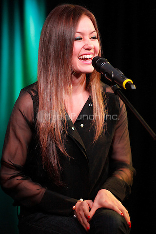 Guinevere pictured at WISX iHeart Performance Theater in Bala Cynwyd, Pa on February 4, 2012  © Star Shooter / MediaPunchInc