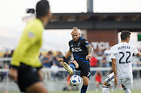 San Jose, CA - Saturday July 28, 2018: Magnus Eriksson during a Major League Soccer (MLS) match between the San Jose Earthquakes and Real Salt Lake at Avaya Stadium.