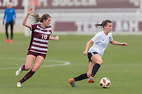 College Station, TX - Saturday March 23, 2019: Houston Dash vs Texas A&M at Ellis Field on the Texas A&M campus.
