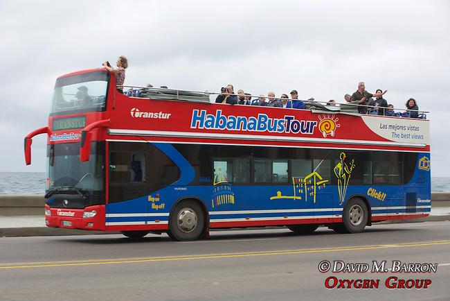 Tourists On Habana Bus Tour