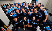 Cricket - ODI Summer Tri-Series - Scotland V Ireland at Grange CC - Edinburgh - the victorious Scotland team in fine voice in their dressing room after beating Ireland by 5 wickets and chasing down 320 to win - Picture by Donald MacLeod - 12.07.11 - 07702 319 738 - www.donald-macleod.com