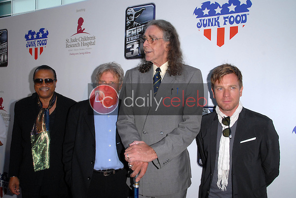 Billy Dee Williams, Harrison Ford, Peter Mayhew and Ewan McGregor<br /> at &quot;The Empire Strikes Back&quot; 30th Anniversary Charity Screening Benefiting St. Jude Children's Research Hospital, ArcLight Cinemas, Hollywood, CA. 05-20-10<br /> David Edwards/Dailyceleb.com 818-249-4998