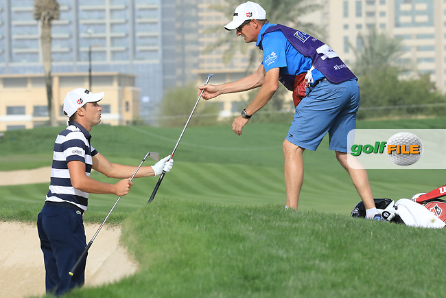 Benjamin Herbert (FRA) in action during the first round of the Omega Dubai Desert Classic, Emirates Golf Club, Dubai, UAE. 24/01/2019<br /> Picture: Golffile | Phil Inglis<br /> <br /> <br /> All photo usage must carry mandatory copyright credit (&copy; Golffile | Phil Inglis)