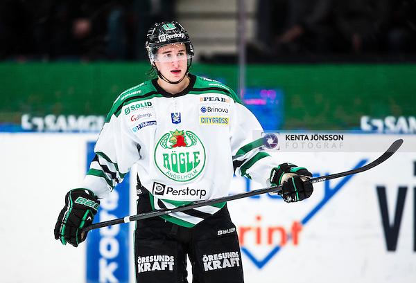 Stockholm 2014-01-20 Ishockey Hockeyallsvenskan Djurg&aring;rdens IF - R&ouml;gle BK :  <br /> R&ouml;gles Jakob Lilja <br /> (Foto: Kenta J&ouml;nsson) Nyckelord:  portr&auml;tt portrait