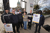 PCS National Strike. 8-3-10 The picket line at the Imperial War Museum.