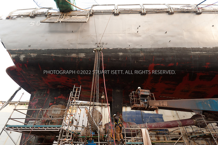 12/13/2011&mdash;Seattle, WA, USA<br /> <br /> Vigor Shipyards in Seattle, Washington, USA.<br /> <br /> Photograph by Stuart Isett<br /> &copy;2014 Stuart Isett. All rights reserved.