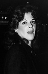 Gilda Radner attends David Bowie's Opening Night Performance in The Elephan Man on September 28, 1980 at the Booth Theatre in New York City.