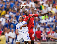 Luis Tejada 18 Of Panama Goes Up For A Header With Reynaldo Hernandez