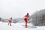 (L-R) Kazuto Takamura, Yughei Fujita (JPN),<br /> MARCH 16, 2018 - Biathlon : <br /> Men's 15 km Visually Impaired  <br /> at Alpensia Biathlon Centre   <br /> during the PyeongChang 2018 Paralympics Winter Games in Pyeongchang, South Korea. <br /> (Photo by Yusuke Nakanishi/AFLO SPORT)