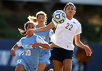 SAN DIEGO, CA - DECEMBER 02, 2012:  Ranee Premji (10) of the University of North Carolina runs up behind Tani Costa (22) of Penn State University during the NCAA 2012 women's college championship match, at Torero Stadium, in San Diego, CA, on Sunday, December 02 2012. Carolina won 4-1.