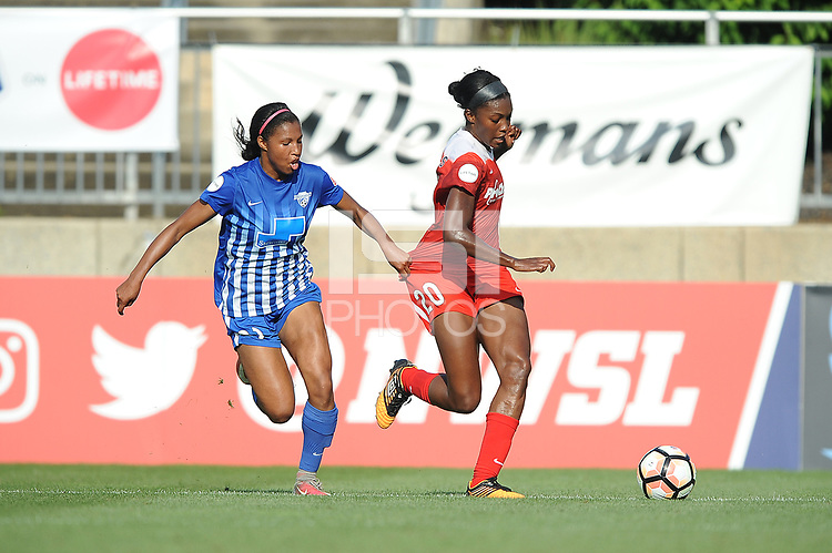 Boyds, MD - Saturday August 12, 2017: Margaret Purce, Cheyna Williams during a regular season National Women's Soccer League (NWSL) match between the Washington Spirit and the Boston Breakers at Maureen Hendricks Field, Maryland SoccerPlex.