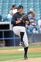 June 6, 2010: Starting Pitcher Shaeffer Hall of the Tampa Yankees delivers a pitch during a game at George M Steinbrenner Field in Tampa, FL. Tampa is the Florida State League High Class-A affiliate of the New York Yankees. Photo By Mark LoMoglio/Four Seam Images