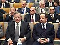 France 2002.Conférence de l' opposition kurde irakienne à Paris.Jalal Talabani et Masoud Barzani.France 2002.Kurdish Iraki Opposition Conference in Paris.Jalal Talabani and Masoud Barzani