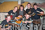 ENTERTAINMENT: The band SPECIAL BREW who performed at the CaiIin Alainn Festival in Lixnaw on Friday night. Front from left: J. P. OCarroll, Lixnaw, and Johnny OConnell, Lixnaw. Back from left: Matt Walsh, Lixnaw, Andrew Moran, Lisselton, William Hennessy, Causeway, and Paul Finch, Beale..