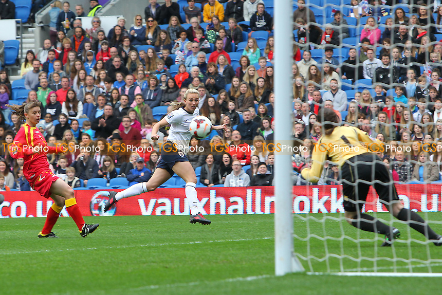 Toni Duggan scores the first goal for England - England Women vs Montenegro Women - FIFA Womens World Cup 2015 Qualifying Group 6 Football at The Amex, Falmer Stadium, Brighton & Hove Albion FC - 05/04/14 - MANDATORY CREDIT: Gavin Ellis/TGSPHOTO - Self billing applies where appropriate - 0845 094 6026 - contact@tgsphoto.co.uk - NO UNPAID USE