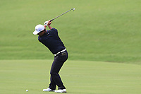 Hideto Tanihara (JPN) plays his 3rd shot on the 18th hole during Friday's Round 2 of the 2017 PGA Championship held at Quail Hollow Golf Club, Charlotte, North Carolina, USA. 11th August 2017.<br /> Picture: Eoin Clarke | Golffile<br /> <br /> <br /> All photos usage must carry mandatory copyright credit (&copy; Golffile | Eoin Clarke)