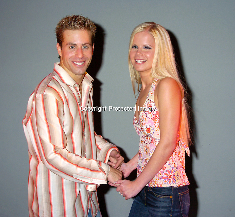 """Michael Minery and Crystal Hunt ..at a performance of """" Michael Minery's Tapaholics"""", a part of the International Dance Fesival NYC on August 7, 2004 ..at the Duke Theatre. ..Photo by Robin Platzer, Twin Images"""