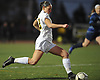 Allison Seidman #2 of Commack looks to make a centering pass during Game 1 of two Long Island varsity girls soccer senior all-star games at Farmingdale State College on Friday, Nov. 24, 2017.