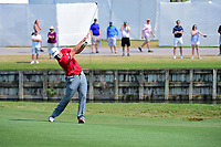 Jon Rahm (ESP) hits his second shot on 16 during round 6 of the World Golf Championships, Dell Technologies Match Play, Austin Country Club, Austin, Texas, USA. 3/26/2017.<br /> Picture: Golffile | Ken Murray<br /> <br /> <br /> All photo usage must carry mandatory copyright credit (&copy; Golffile | Ken Murray)