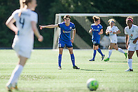 Seattle, WA - Sunday, May 1, 2016: Seattle Reign FC midfielder Keelin Winters (11) directs her teammates during a National Women's Soccer League (NWSL) match at Memorial Stadium.