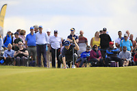Matthew Fitzpatrick (ENG) on the 5th during Round 4 of the Aberdeen Standard Investments Scottish Open 2019 at The Renaissance Club, North Berwick, Scotland on Sunday 14th July 2019.<br /> Picture:  Thos Caffrey / Golffile<br /> <br /> All photos usage must carry mandatory copyright credit (© Golffile | Thos Caffrey)