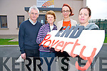 Pictured announcing details of the campaign to raise awareness of the eradication of poverty through family resource centres in Cork and Kerry, in Ballyspillane Family Resource centre, Killarney on Monday were Denny Hayes, Veronica Murphy, Nancy Holmes Smith and Liz Fenton.