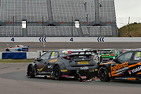 #26 Daniel Lloyd BTC Norlin Racing Honda Civic Type R (FK2) during BTCC Race 3  as part of the Dunlop MSA British Touring Car Championship - Rockingham 2018 at Rockingham, Corby, Northamptonshire, United Kingdom. August 12 2018. World Copyright Peter Taylor/PSP. Copy of publication required for printed pictures.