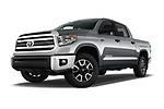 Stock pictures of low aggressive front three quarter view of 2017 Toyota Tundra TRD-Pro-4WD-Crew-Max-Short-Bed 4 Door Pickup Low Aggressive