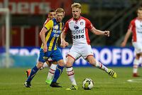 EMMEN - Voetbal, FC Emmen - FC Oss, Jens Vesting, Jupiler League, seizoen 2017-2018, 27-10-2017,  FC Emmen speler Youri Loen