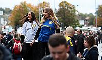 Ladies on stilts walk around outside Elland Road<br /> <br /> Photographer Alex Dodd/CameraSport<br /> <br /> The EFL Sky Bet Championship - Leeds United v Birmingham City - Saturday 19th October 2019 - Elland Road - Leeds<br /> <br /> World Copyright © 2019 CameraSport. All rights reserved. 43 Linden Ave. Countesthorpe. Leicester. England. LE8 5PG - Tel: +44 (0) 116 277 4147 - admin@camerasport.com - www.camerasport.com
