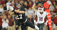Stanford-October 10, 2014: Christian McCaffrey  during the Stanford vs. Washington State game Friday night at Stanford Stadium.<br /> <br /> The Cardinal defeated the Cougars 34-17.